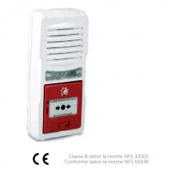 Alarme type 4 autonome avec flash LED lumineux